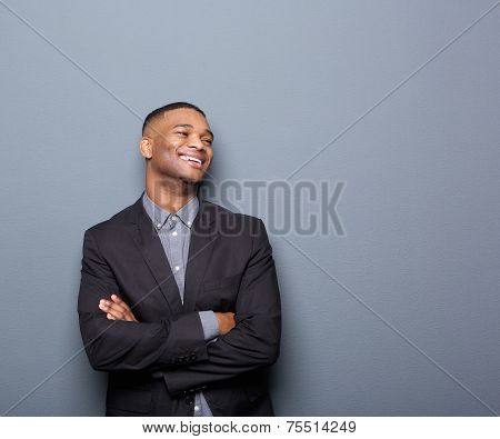 African American Business Man Smiling With Arms Crossed
