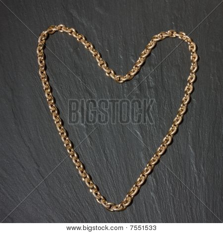 Gold Heart Shape