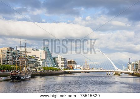 Liffey River In Dublin