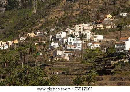 Village in mountains, La Gomera