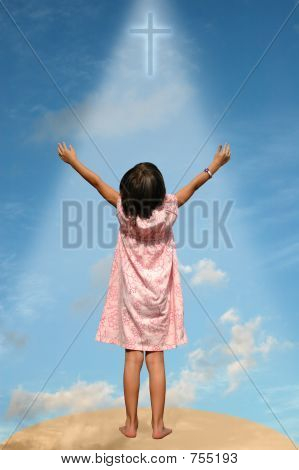 Child with Arms Extended Toward Heaven