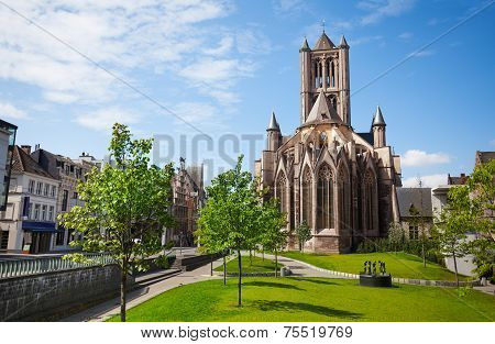 View of St Nicholas' Church in Ghent,  Belgium