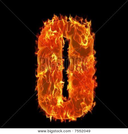 Burning Alphabet O