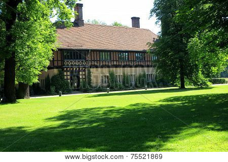 Berlin Potsdam, the historic center of Europe. Half-timbered architecture in Palace Cecilienhof, Ger