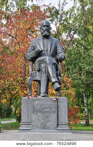 Monument to Alexander Butlerov, located in the center of Kazan, in the square named after Pushkin