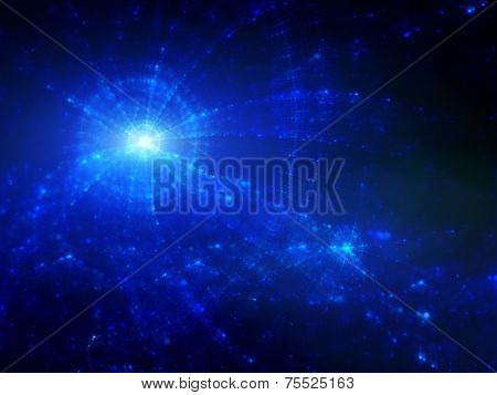 Blue Glowing Star Clusters