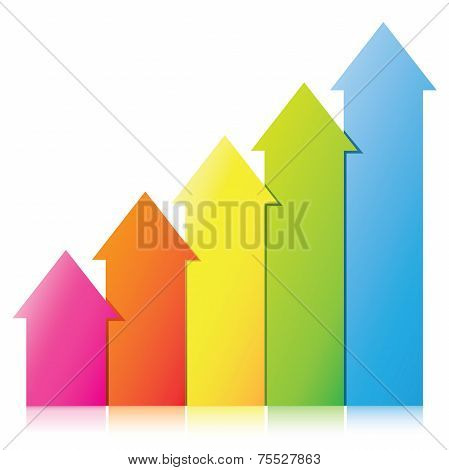 colorful arrow chart