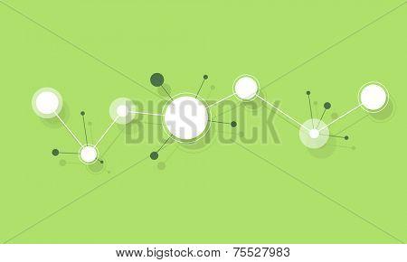 flat paper circle shape