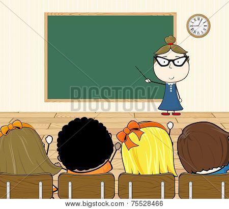 teacher in class room