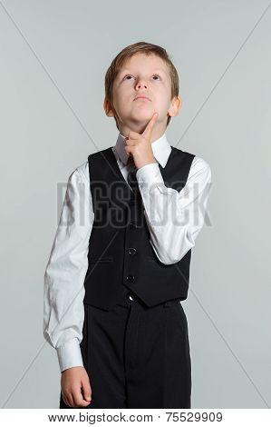 Thinking Schoolboy