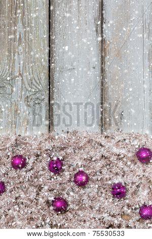 Background Violet Christmas Balls