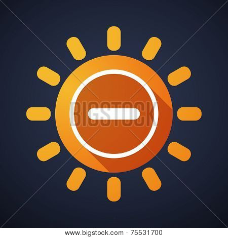 Sun Icon With A Subtraction Sign