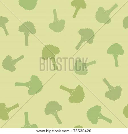 Broccoli seamless pattern.