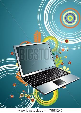 vector technology with laptop
