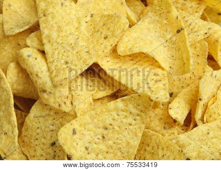 Nacho corn chips, suitable as background