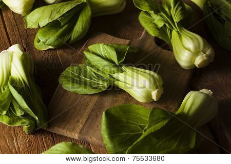 Raw Organic Baby Bok Choy