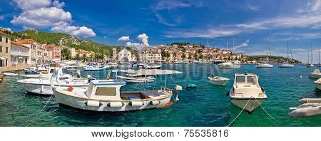 Idyllic Hvar Harbor Panoramic View