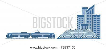 Train In A City