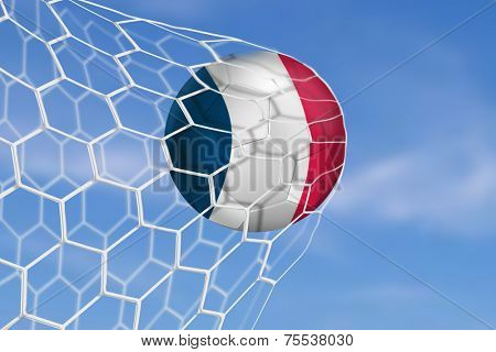Amazing Goal with France Flag