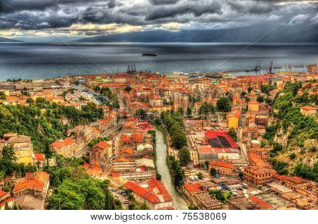 Aerial View Of Rijeka, Croatia