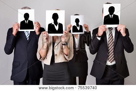Group Of Unidentifiable Business People