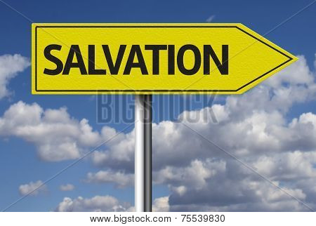 Creative sign with the message - Salvation