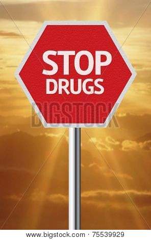 Creative sign with the message - Stop Drugs