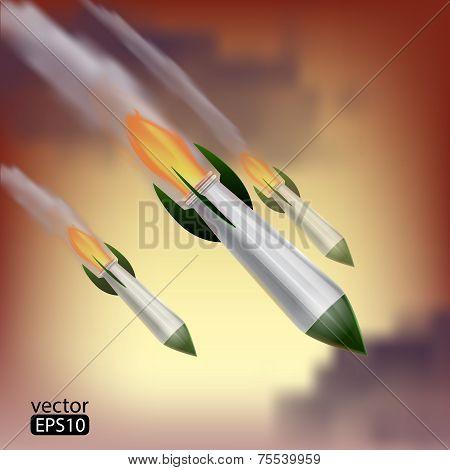 Rockets attack