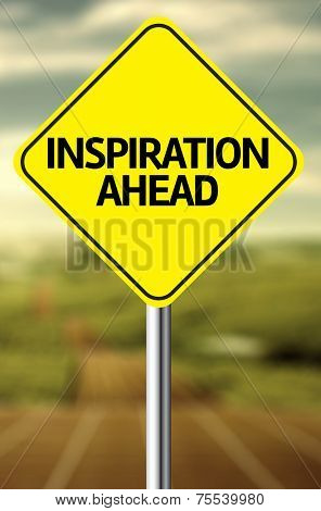 Creative sign with the message - Inspiration Ahead