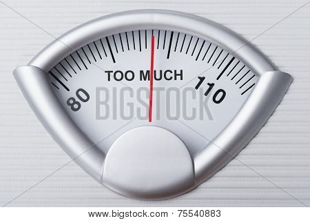 Weight Scale Indicating Too Much