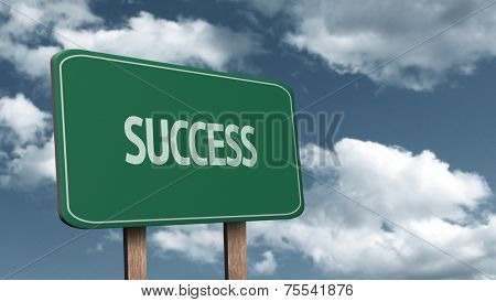 Creative sign with the message - Success