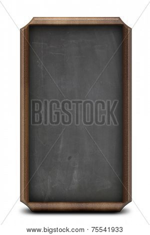 Isolated backboard with a wood frame