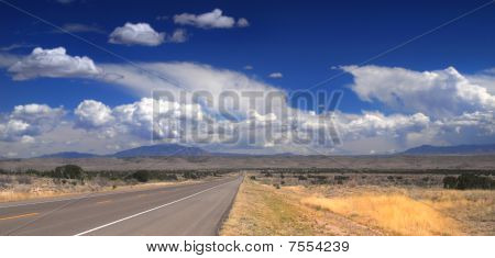Desolate Road In New Mexico