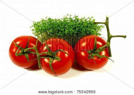 tomatoes and cress