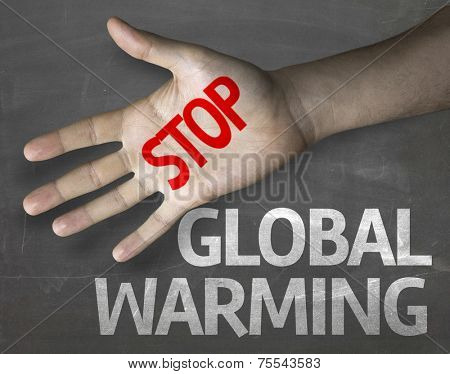 Creative composition with the message Stop Global Warming