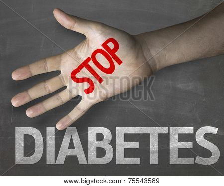 Creative composition with the message Stop Diabetes