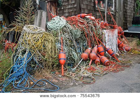 Ropes at lobster shack