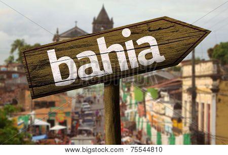Bahia wooden sign, Brazil