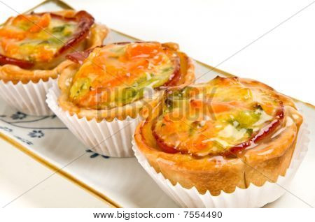 Vegetables Quiche In Tray