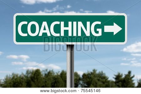 Coaching creative sign