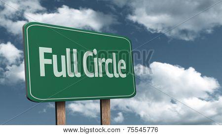 Full Circle creative sign