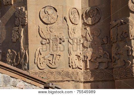 Sculpted Frieze Of Armenian Church