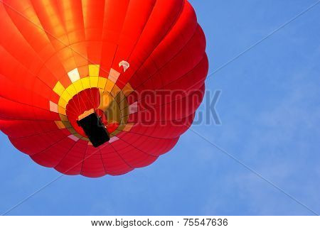 Hot Air Balloon. Bottom View