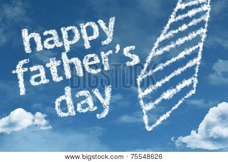 Happy Fathers Day written on the Clouds