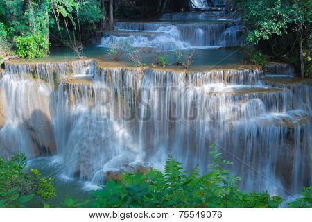 Waterfall in National park Kanchanaburi