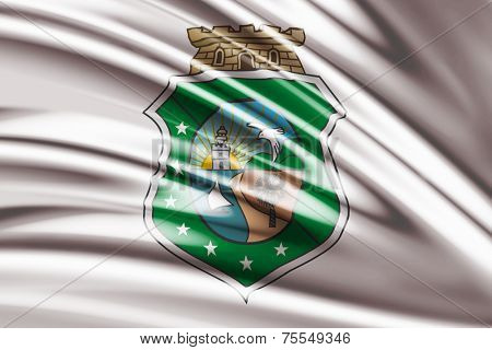 Amazing Flag of the Coat of arms of Ceara Brazil