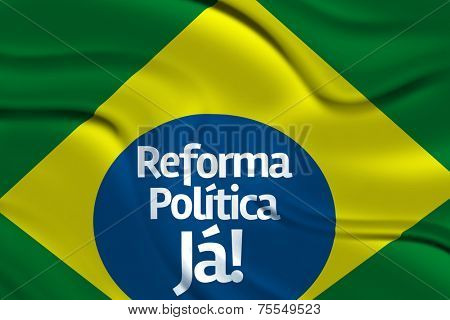 Reforma Politica Ja in the Brazilian Flag