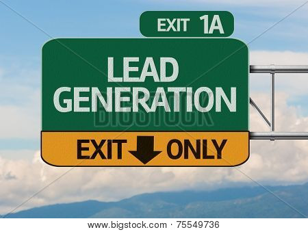 Creative Lead Generation Exit Only, Road Sign
