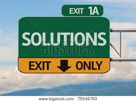Creative Solutions Exit Only, Road Sign