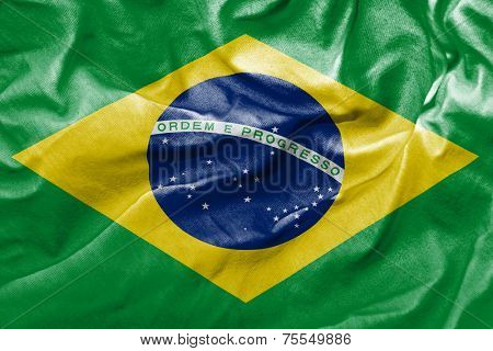 Amazing Flag of Brazil , South America